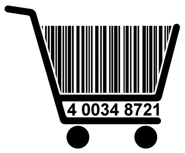 Der Einkaufswagen-Strichcode